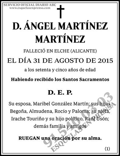Ángel Martínez Martínez